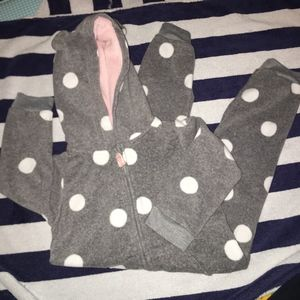 Carters Footless Fleece Bodysuits in 24m